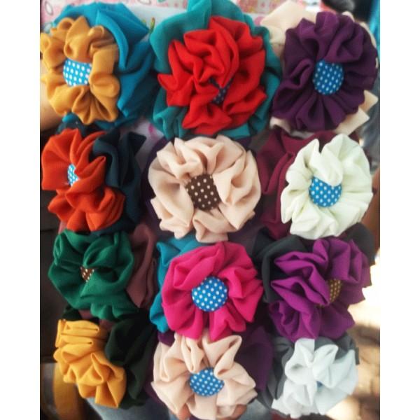 cara membuat bros jilbab bunga dari kain flanel model kain